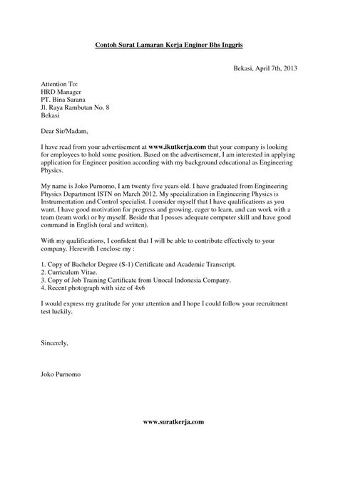 contoh surat lamaran pekerjaan lengkap dan tips cara