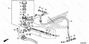Honda Motorcycle 2012 Oem Parts Diagram For Clutch Master