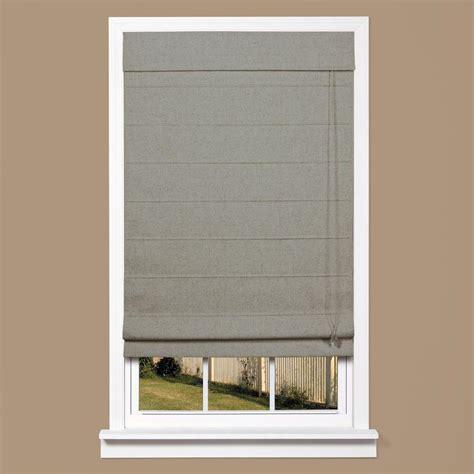 gray l shade homebasics grey linen look thermal blackout fabric