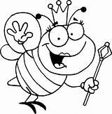 Coloring Bee Bumble Pages Printable Cartoon Activity sketch template