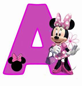 minnie free alphabet in purple alfabeto purpura de minnie With minnie mouse alphabet letters