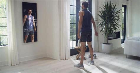 smart mirror puts  personal trainer
