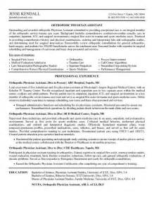 family assistant resume sle physician assistant resume the best letter sle