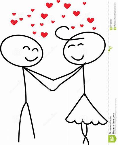Stick Figure Couple Clipart Drawing Illustration Getdrawings