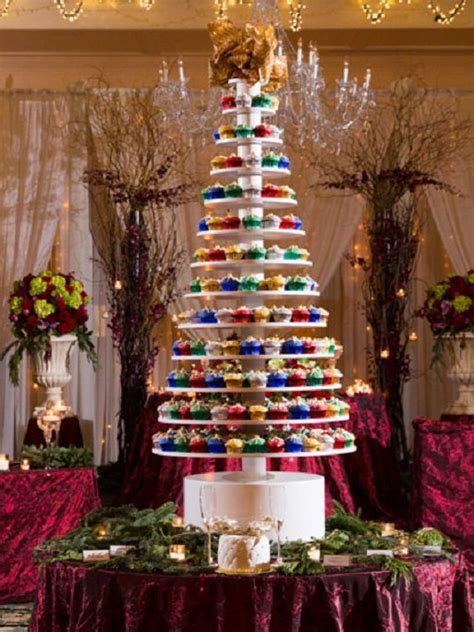 giant christmas tree style cupcake stand holds 500 plus