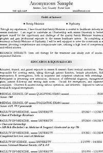 Excellent Resume Or Cv For Medical Resident  Residency  Fm  Family Medicine  Psychiatry  Even A