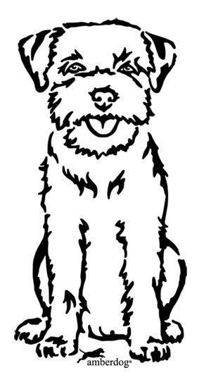 Border Terrier Wandtattoo