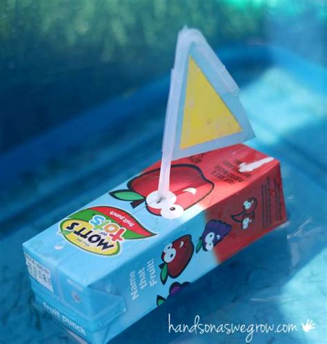 How To Make A Floating Boat For School Project by Boat Craft For Kids To Make From Juice Boxes That Really