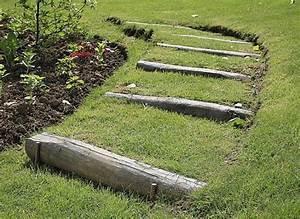 6 escaliers de jardin pour s39inspirer With modele escalier exterieur terrasse 6 photos amenagement cate jardin paysage