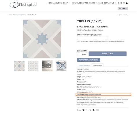 pei durability ratings  porcelain  ceramic tiles