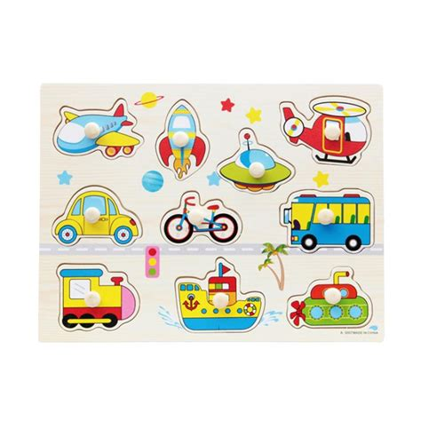vehicle shape wooden puzzles toddlers preschool 878 | Vehicle Shape Wooden Puzzles Toy Funny Toddlers Preschool Kids Educational Sensory Learning Puzzles Funny Children Toys