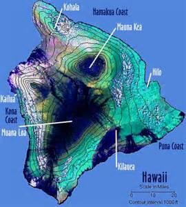 Hawaii Topographic Map
