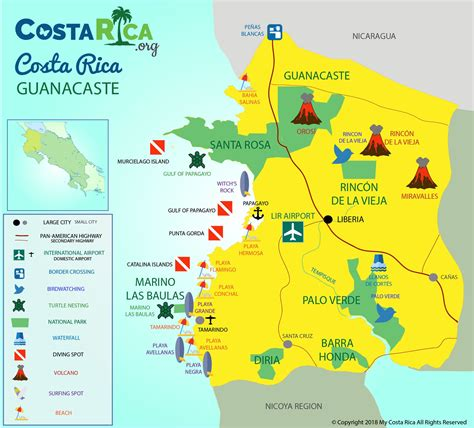 costa rica maps  map     trip