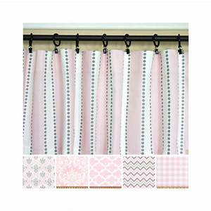 Pink grey curtainslight pink window curtainskitchen for Light pink and gray curtains