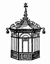 Gazebo Clipart Clip Victorian Designlooter Era 1997 3300px 99kb 2550 sketch template