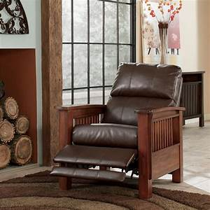 ashley signature design santa fe 1990026 high leg recliner With ashley mission recliner