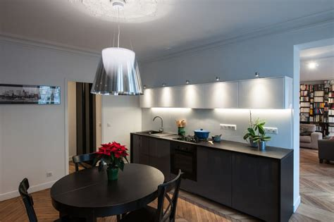 cuisine dinatoire cuisine dinatoire ouverte sur le salon contemporain cuisine par fables de murs