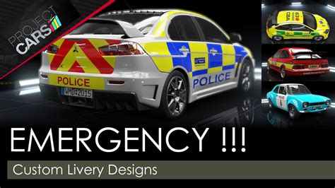 Project Cars  Custom Livery Designs  Emergency Youtube