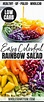 Colorful Rainbow Salad with Pomegranate Vinaigrette ...