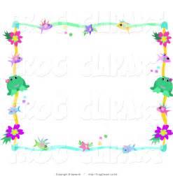 Colorful Flowers Clip Art Borders