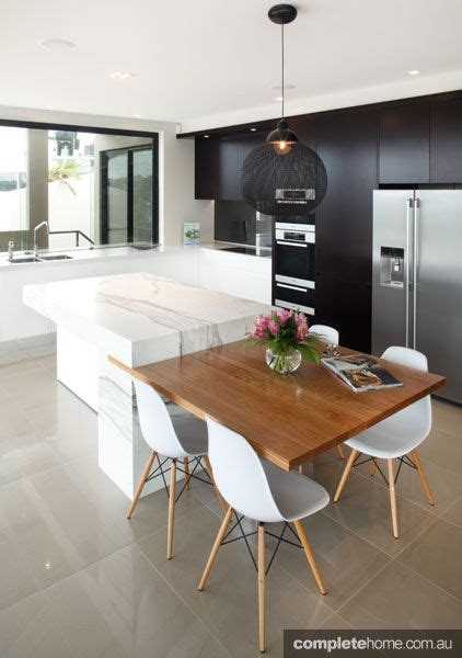 kitchen island bench dining table great idea dining table integrated with the kitchen 8138