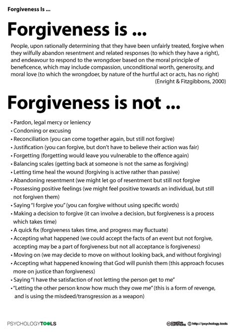 forgiveness is psychology tools therapy