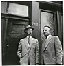 Johannes Kleiman and Victor Kugler in front of Anne Frank ...