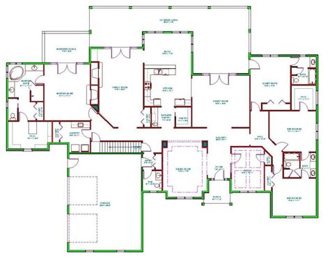 awesome  bedroom ranch house plans  home plans design