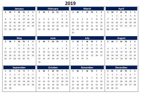 calendar printable excel