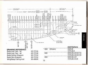 Boeing 737-500  Aka 735  Aft Fuselage Station Diagram