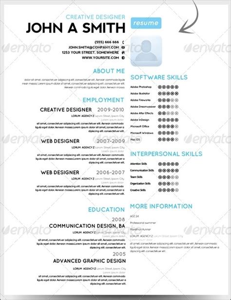 How To Make A Simple One Page Resume by Phuket Resume Collection And Creative Design 30 Amazing