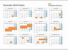 Feiertage 2018 Indien Kalender & Übersicht
