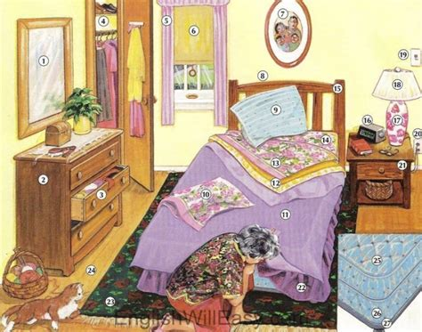 Picture Dictionary Bedroom