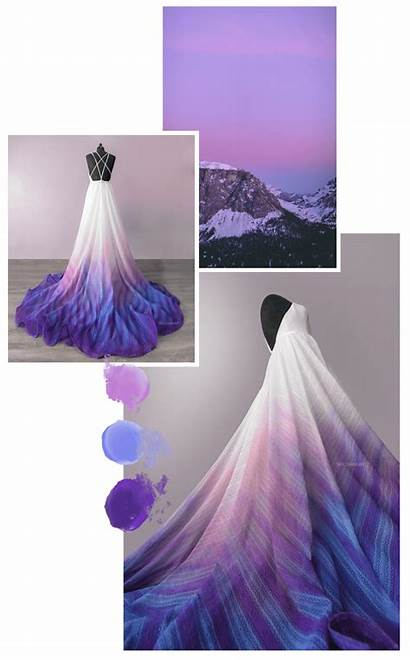 Purple Bridal Canvas Colored Dresses Unique