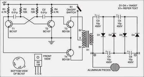 simple electric shock gun circuit diagram check more at