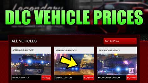 Gta 5 Online New Nightclub Dlc Cars & Vehicles Price List