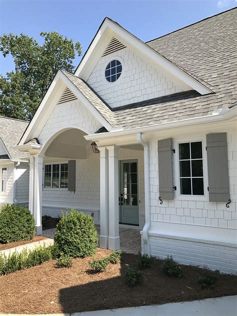 exterior house paint colors photos popular paint color alabaster sw 7008 sherwin williams