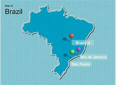 Map of Brazil Template