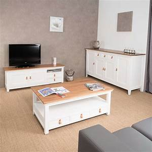 Meuble Salon Bois : meuble tv acajou meuble tv blanc et bois rectangle chic 150 cm ~ Teatrodelosmanantiales.com Idées de Décoration