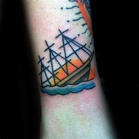 shipwreck tattoo designs  men sunken ink ideas