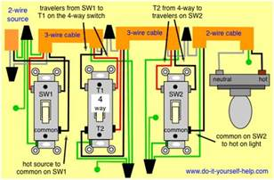 Wiring 3 Way Switches With Multiple Lights by 4 Way Switch Wiring Diagrams Do It Yourself Help Com