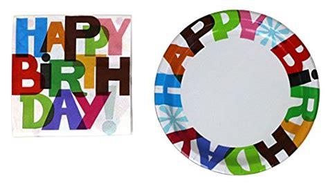 27756 happy birthday cake pic 071105 halmark 32 paper plates and 80 napkins happy