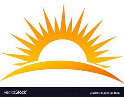 Sun Sunrise Rise Vectorstock Clip Illustrator Adobe