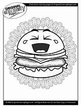 Coloring Cheeseburger sketch template