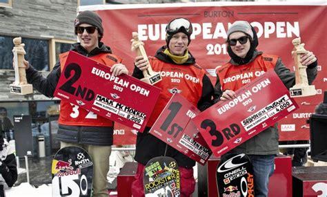 burton siege social horgmo wins burton european open slopestyle tracks