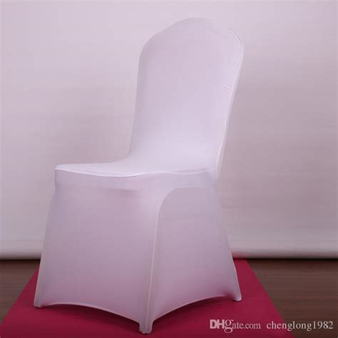 universal white polyester spandex wedding chair covers for