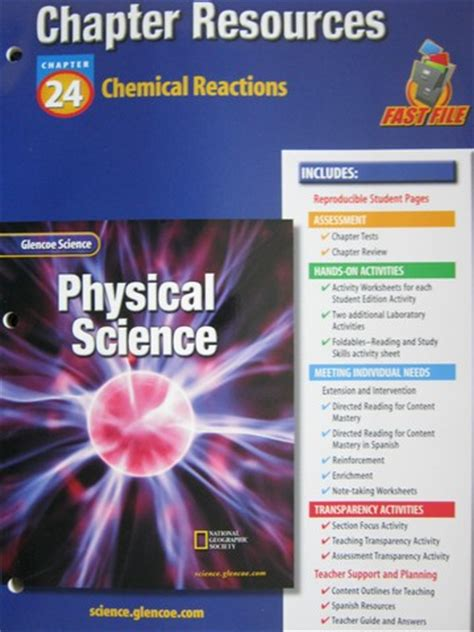 glencoe physical science chapter resources  solutions p