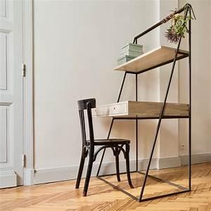 Etagere De Bureau : bureau tag re et tiroirs bois metal bureau chelle dandy guibox ~ Teatrodelosmanantiales.com Idées de Décoration