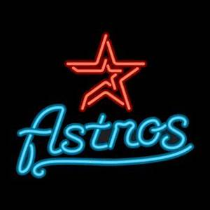 Houston Astros Neon Sign Game Room Theater