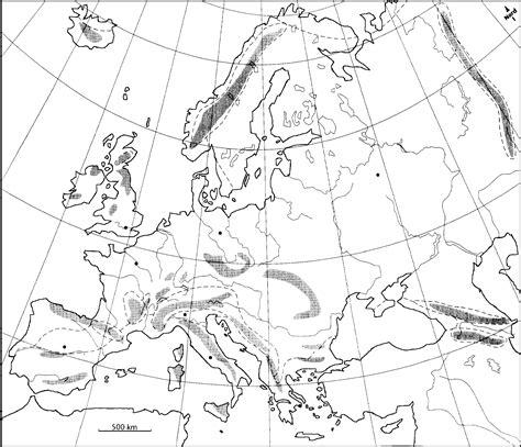 Carte Des Reliefs De à Compléter by Vierge Carte En Relief Europe